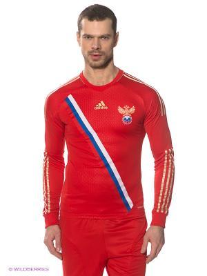 Лонгслив Adidas. Цвет: красный