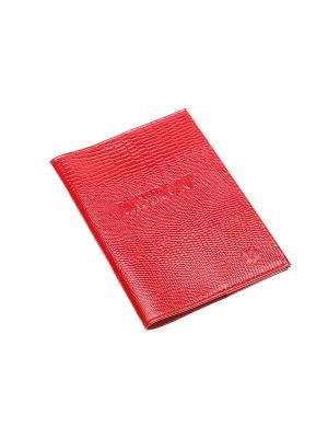 Обложка для паспорта Time. Цвет: красный
