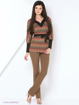 Джемпер L-design. Цвет: коричневый