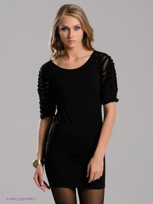 Платье-туника miss money. Цвет: черный