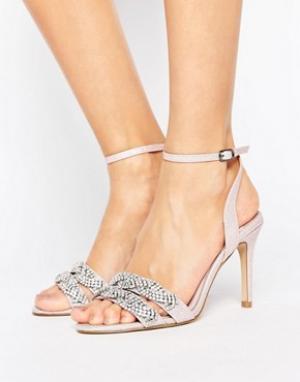 Faith Декорированные сандалии на каблуке. Цвет: розовый