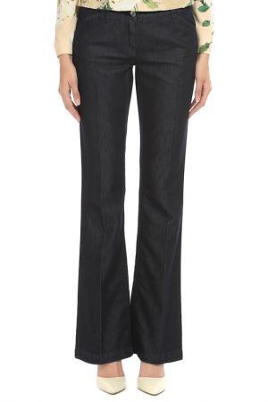 Расклешенные брюки с застежками DOLCE & GABBANA. Цвет: синий
