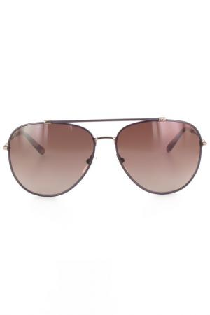 Очки солнцезащитные DVF. Цвет: сиреневый