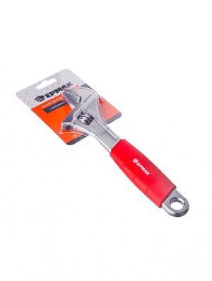 Ключ разводной 200мм с обрезиненной ручкой Ермак. Цвет: серебристый