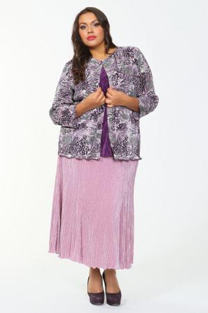 Блузон Bassini. Цвет: фиолетовый, черный