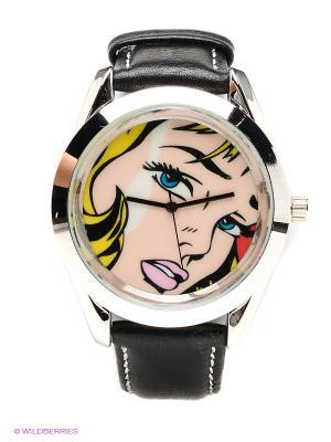 Часы Kawaii Factory. Цвет: черный, серебристый