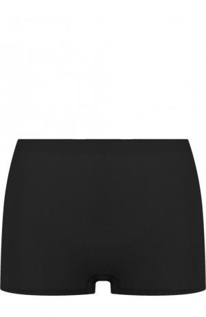 Однотонные шорты с завышенной талией Hanro. Цвет: черный