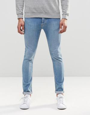 LDN DNM Стретчевые джинсы скинни. Цвет: синий
