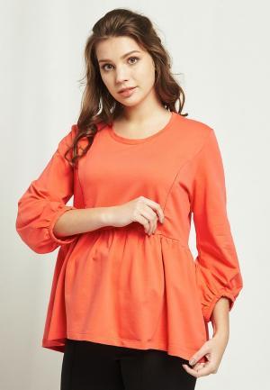 Свитшот Мама Мила. Цвет: оранжевый