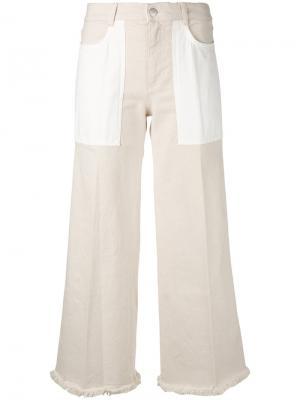 Укороченные брюки клеш Stella McCartney. Цвет: телесный