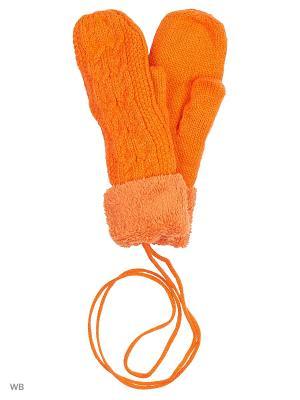 Варежки Pur. Цвет: оранжевый