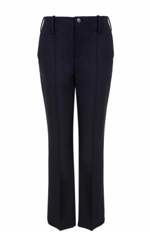 Укороченные расклешенные брюки со стрелками Balenciaga. Цвет: темно-синий