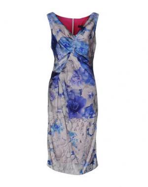 Платье до колена IVAN MONTESI. Цвет: синий