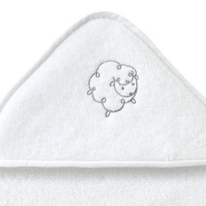 Халат детский из махровой ткани LITTLE SHEEP La Redoute Interieurs. Цвет: белый,бледно-зеленый,розовый телесный,серо-бежевый