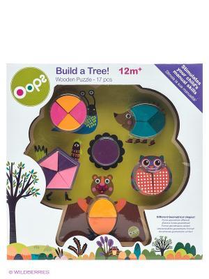 Игрушка-пазл Построй дерево Oops. Цвет: зеленый