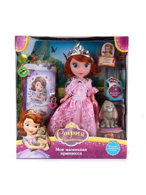 Кукла Карапуз DISNEY принцесса  София 25 см, озвученная, с кроликом и дневником.. Цвет: розовый, сиреневый