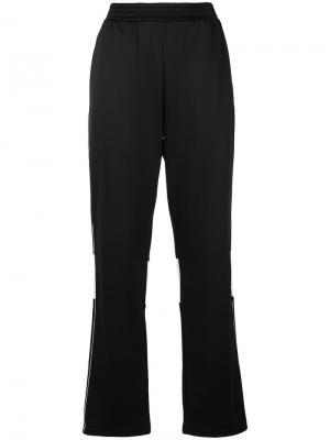 Расклешенные спортивные брюки Wales Bonner. Цвет: чёрный