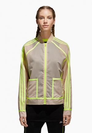 Олимпийка adidas Originals. Цвет: бежевый