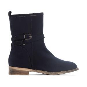 Ботинки с пряжкой 28-35 La Redoute Collections. Цвет: серый,синий морской,черный