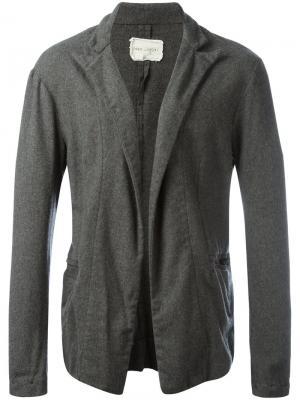 Фланелевый пиджак Greg Lauren. Цвет: серый
