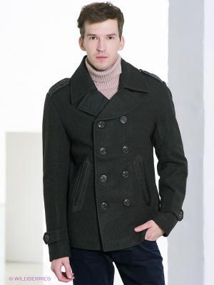 Пальто TOM FARR. Цвет: темно-зеленый