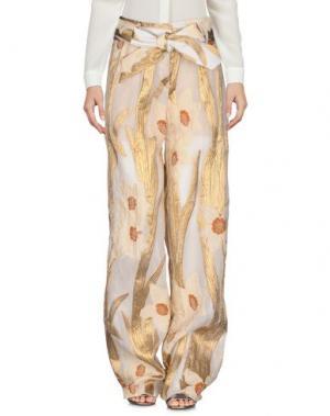 Повседневные брюки CHRISTIAN PELLIZZARI. Цвет: золотистый