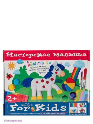 Мастерская малыша. Чемоданчик. Набор основ и материалов для творчества АЙРИС-пресс. Цвет: красный, белый, синий