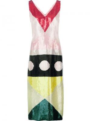Платье Pixley с пайетками Novis. Цвет: многоцветный