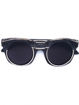 Солнцезащитные очки Mask U6 Kuboraum. Цвет: чёрный