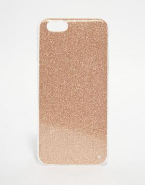 SIGNATURE Чехол с блестками для iPhone 6. Цвет: золотой