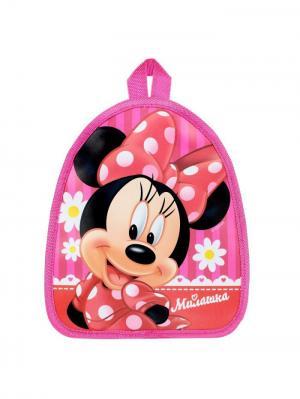 Рюкзак детский Милашка Минни Маус Disney. Цвет: черный, персиковый, розовый