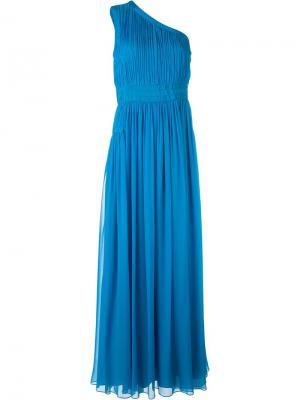 Платье на одно плечо Diane Von Furstenberg. Цвет: синий
