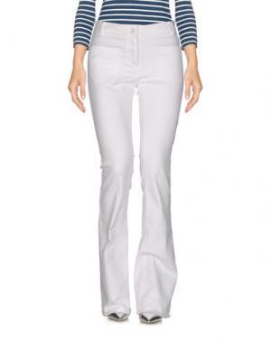 Джинсовые брюки 19.70 NINETEEN SEVENTY. Цвет: белый