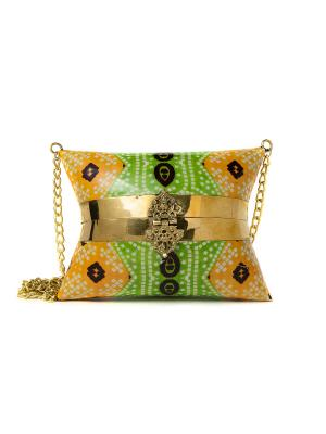 Сумка-клатч ручной работы из металла, Зеленый чай Indira. Цвет: зеленый