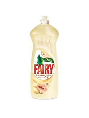 Средство для мытья посуды, Нежные руки, Ромашка и витамин Е 1л Fairy. Цвет: бежевый