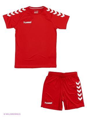Спортивный костюм ESSENTIAL TRAINING KIT HUMMEL. Цвет: красный