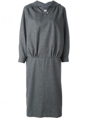 Трикотажное платье с вырезом замочная скважина Comme Des Garçons Vintage. Цвет: серый