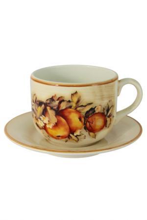 Чашка с блюдцем LCS. Цвет: мультиколор