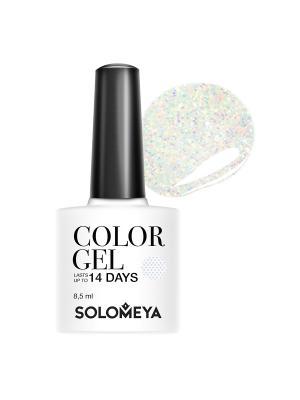 Гель-лак Color Gel Shine SCGK108/Сверкай SOLOMEYA. Цвет: бледно-розовый, серебристый