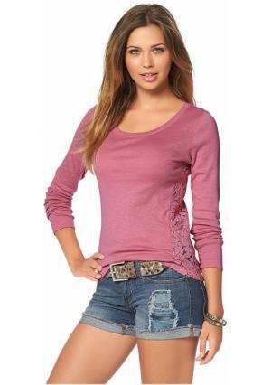 Кофточка AJC. Цвет: розово-сиреневый, темно-синий, экрю
