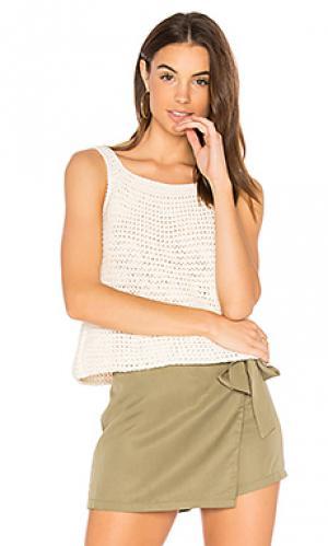 Mia hand knit tank LACAUSA. Цвет: белый