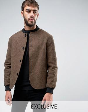 Heart & Dagger Твидовый пиджак. Цвет: коричневый