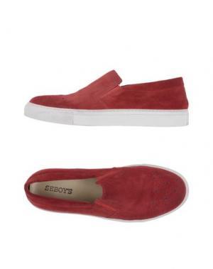 Низкие кеды и кроссовки SEBOY'S. Цвет: кирпично-красный