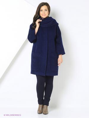 Пальто SUCCESS. Цвет: синий, темно-синий