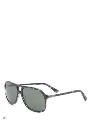 Солнцезащитные очки TO 0096 55N Tod's. Цвет: черный, серый