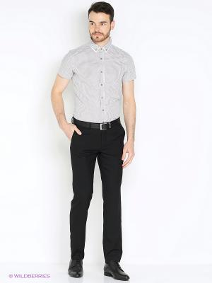 Рубашка Oodji. Цвет: серый