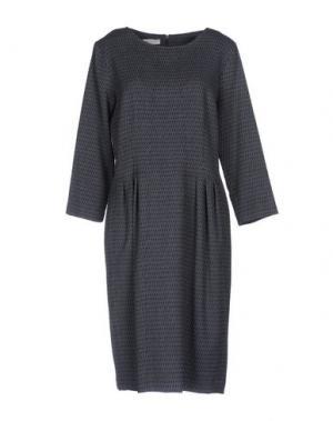 Платье до колена ROSSO35. Цвет: темно-синий