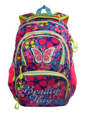 Рюкзак UFO PEOPLE. Цвет: розовый, синий, салатовый