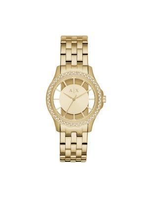 Часы Armani Exchange. Цвет: желтый, золотистый