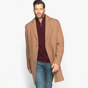Пальто из шерстяного драпа длиной 3/4 CASTALUNA FOR MEN. Цвет: темно-бежевый